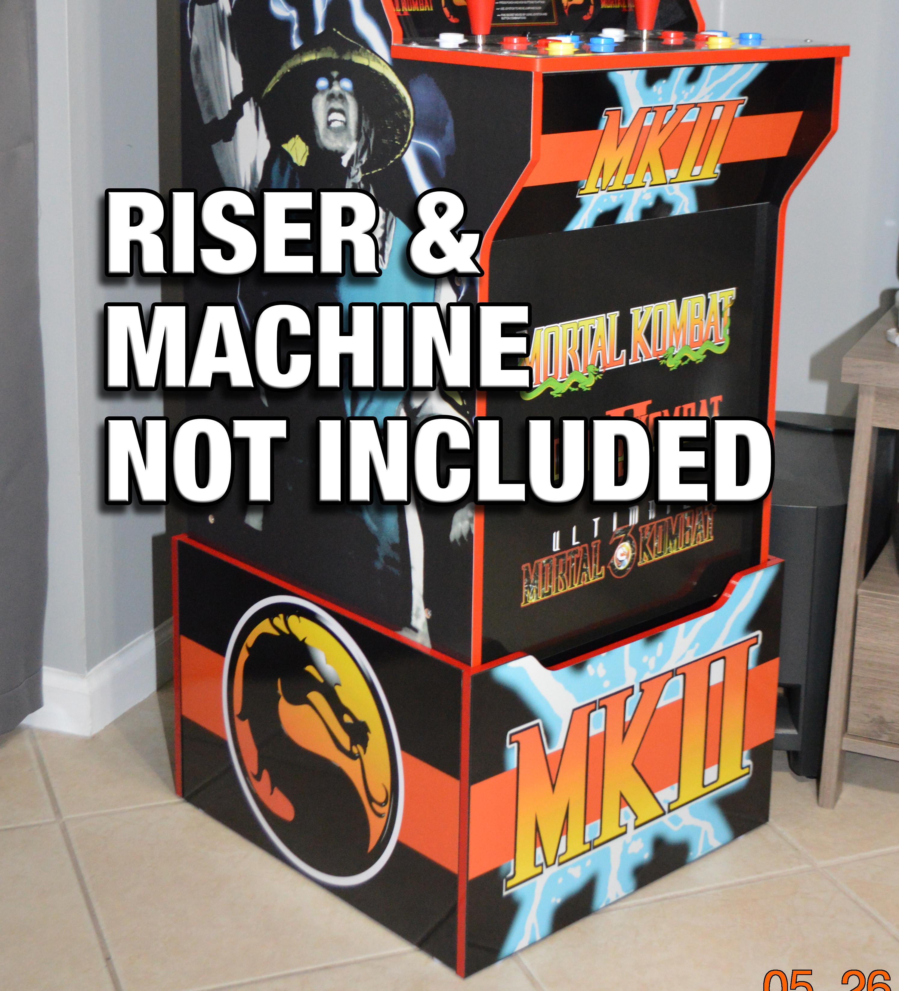 Arcade 1up Mortal Kombat Ii Riser Decals Gulf Coast Decals