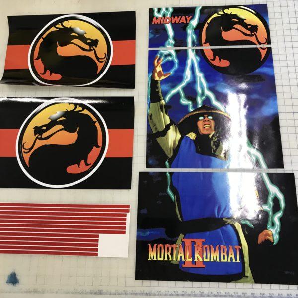 Arcade 1Up Mortal Kombat II Riser Decals Arcade1up Raiden Graphics