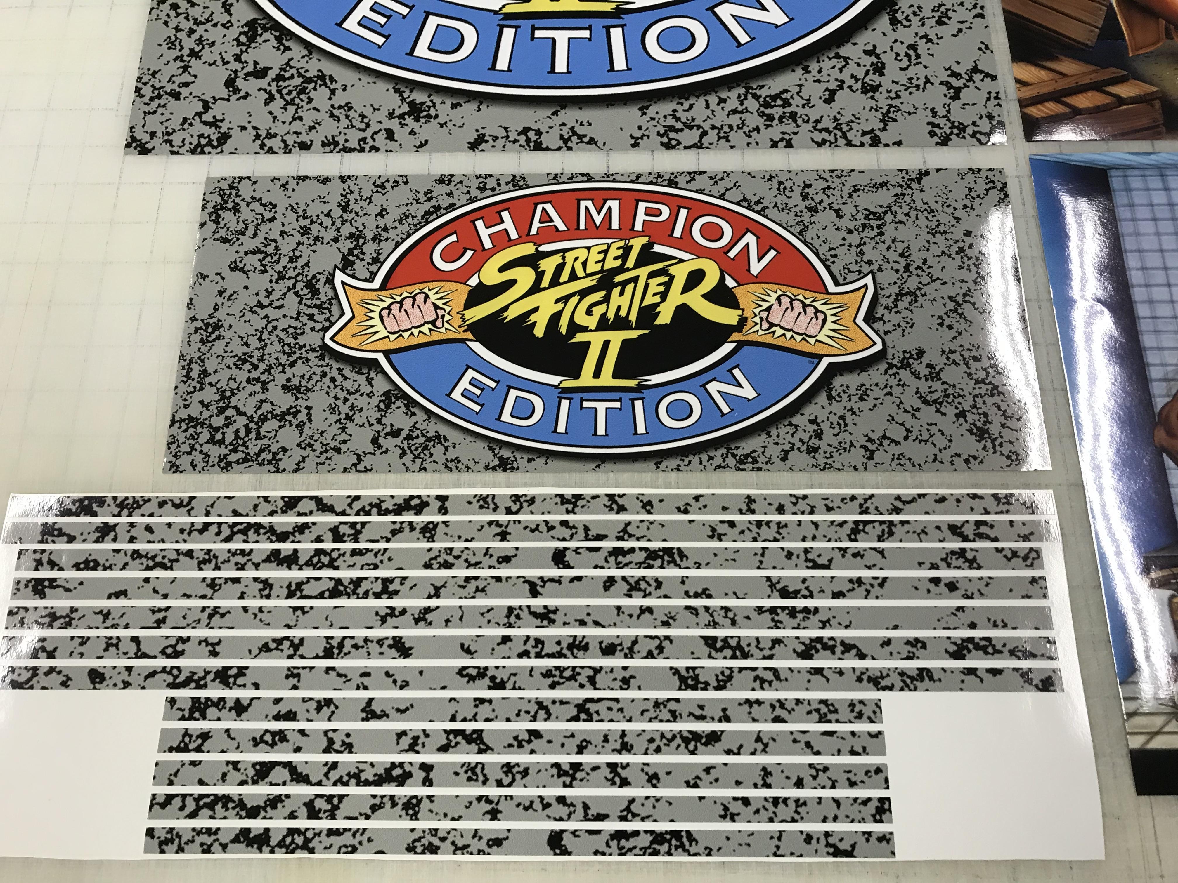 Arcade 1up Street Fighter Ii Champion Edition Riser Decals