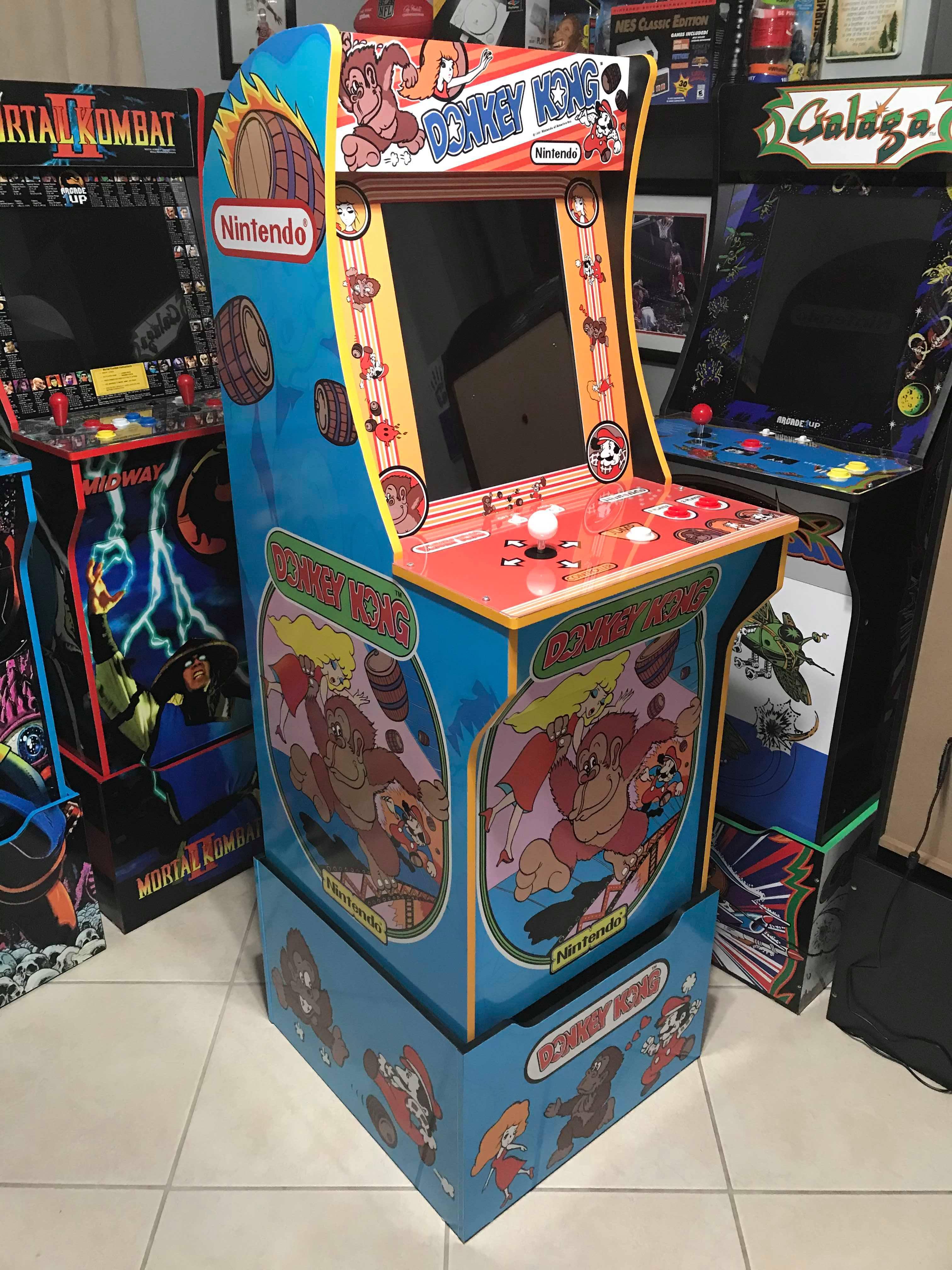 Arcade 1Up Donkey Kong Machine & Riser Decals Arcade1up